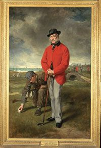 John Whyte Melville, 1874 by Sir Francis Grant (The Royal and Ancient Golf Club of St Andrews and British Golf Museum)