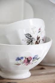 vintage french cafe au lait bowls