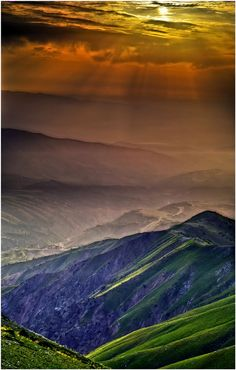 So many colours, warms your heart. Chimgan Mountains HDR, Uzbekistan  C h i m g a n … by my-shots
