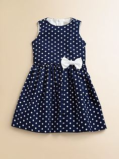 Lotusgrace Toddler's & Little Girl's Polka Dot Party Dress
