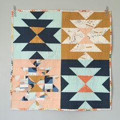 Mini squash blossom quilt with April Rhodes fabric