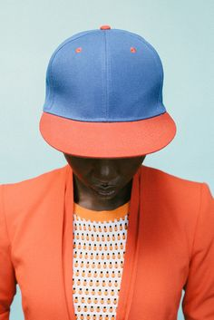 Look at those colors! And that classic baseball cap.Giannina Antonette photographed by Adriaan Louw, with styling by Marica Smit | From:10and5.com