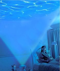 "Under the sea - Wave projector...If two people hold up a blue topsheet and we gather under ""water"" it would make a nice storytime addition"