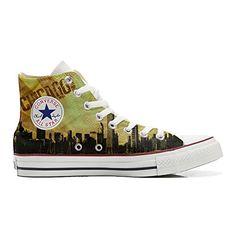 Converse All Star personalisierte Schuhe (Handwerk Produkt) Chicago Style - http://on-line-kaufen.de/make-your-shoes/converse-all-star-personalisierte-schuhe-style-2