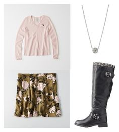 """""""Untitled #376"""" by eliz171 on Polyvore featuring American Eagle Outfitters, Abercrombie & Fitch, Charlotte Russe and FOSSIL"""