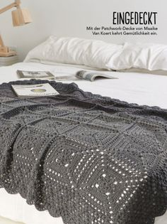 Excellent Totally Free Crochet afghan black Tips Häkelanleitung Schwarze Decke Simply Häkeln 0515 Crochet Squares, Crochet Granny, Crochet Blanket Patterns, Baby Knitting Patterns, Crochet Afghans, Modern Crochet Blanket, Crochet Bedspread Pattern, Afghan Patterns, Square Patterns