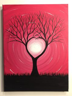 Tree Painting-All you need is love  9 x 12 by MichaelHProsper