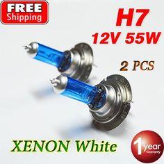 2 Pieces 55W H7 Halogen Bulbs Super White Quartz Glass 12V 5000K Xenon Dark Blue Car HeadLight Bulb Auto Lamp FREE SHIPPING
