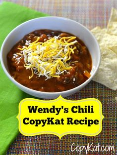 Wendy's Chili Recipe - enjoy this classic recipe tonight.
