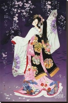 Sagi No Mai Stretched Canvas Print by Haruyo Morita at Art.com