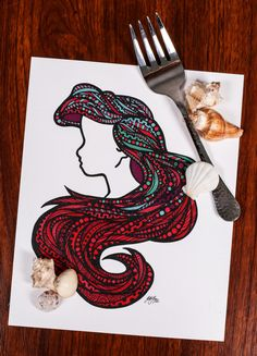 Zentangle - Sea Hair