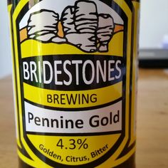 Very good hoppy amber ale. - Drinking a Pennine Gold by Bridestones Brewing