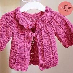 sueter para niñas a crochet
