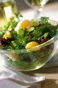Greens and clementines
