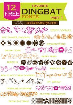 12 Favorite Free Dingbat Fonts