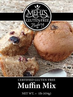 Use our Gluten-Free muffin mix to create your own muffin goodness. Add in your favorite ingredients to create your own masterpiece.