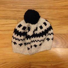 J.Crew Handknit Beanie Adorable black and white Pom Pom beanie. J. Crew Accessories Hats