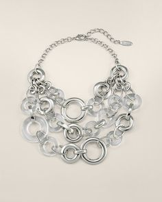 Lucite and silver fabulousness! #chicos #lovechicos #destinationfabulous