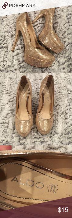 Aldo Rose Gold Pumps Aldo Rose Gold Pumps size 38 Aldo Shoes Heels