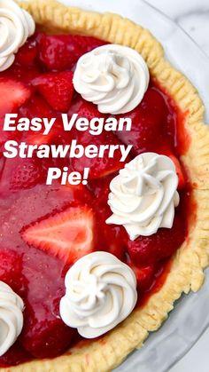 Vegan Desert Recipes, Tasty Vegetarian Recipes, Fruit Recipes, Summer Recipes, Sweet Recipes, Dessert Recipes, Gluten Free Desserts, Healthy Desserts, Just Desserts