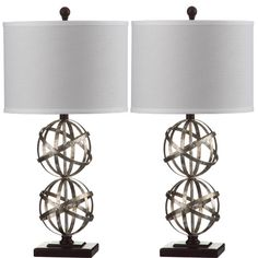 "Found it at Wayfair - Haley Spher 28"" H Table Lamp with Drum Shade"