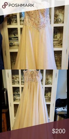 Light Pink Prom Dress Pale pink ball gown style prom dress Dresses Prom