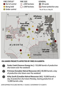 Wildfires shut down oil sands production in Alberta - The Globe and Mail   May 26th/15
