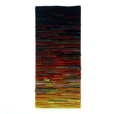 Abstract Textile Fiber Art Wallhanging / First by TexturesGallery