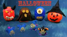 Play Doh Halloween Surprise Eggs with Maxi Kinder Surprise Toys Kinder Jaja Jajka 2014 2015 jaja Play Doh, Eggs, Halloween, Character, Art, Travel Destinations, Projects, Ideas, Art Background