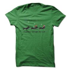 Dachshund Through The Snow T Shirt - #v neck tee #sweater coat. PURCHASE NOW => https://www.sunfrog.com/Pets/Dachshund-Through-The-Snow-T-Shirt.html?68278