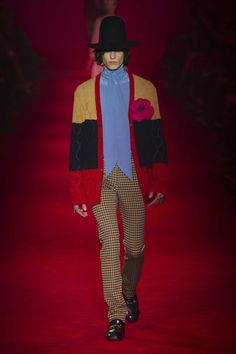 A look from the Gucci fall 2016 men's collection. Photo: Imaxtree.