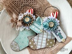 Glistening Stocking Ornaments by Authentique Paper Design Team Member Audrey Pettit