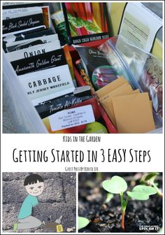 Start gardening with kids in 3 easy steps. Kids in the Garden Start gardening wit Toddler Activities, Preschool Activities, Outdoor Activities, Starting A Garden, Gardening For Beginners, Gardening Tips, Garden Care, Growing Vegetables, Outdoor Fun