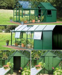 Greenhouse and Storage Shed Combination Design from Hartley Botanic