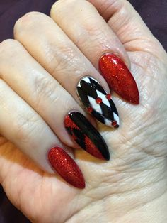 Harley Quinn nails from reddit                                                                                                                                                                                 More