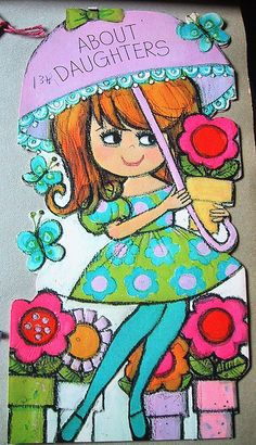 """Vintage 70's birthday card"" by bewitchedmagic on Flickr.  How cute. I remember getting cards like this..."
