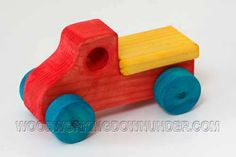 Download free plans for this simple, easy to make wooden toy truck. Make one, make a dozen to sell or give away to friends and family.