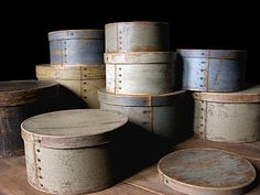 PRIMITIVE PANTRY BOXES/CHEESE BOXES