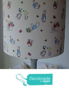 Beatrix Potter Peter Rabbit - Handmade Nursery Table Lampshade 20 cm Drum from Evie Eccles Handmade Lampshades https://www.amazon.co.uk/dp/B01M7YYT8W/ref=hnd_sw_r_pi_dp_HaqhybY9WC2W9 #handmadeatamazon