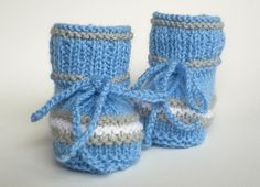 Babyschuhe gestrickt knitted baby shoes baby booties