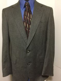 a6239a8c8 Austin Reed Mens Wool Gray Tweed 2 Button Sport Suit Coat Blazer Size 42R  #AustinReed