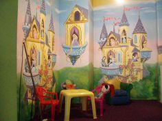 Todas las princesas juntas en un salón de fiestas