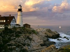 Portland Head lighthouse The original lighthouse here was built in 1790. The current structure is managed by the town on Cape Elizabeth, Maine, and is a tourist attraction with a museum, gift shop, and acres of parks and trails surrounding it. Photo: James Jordan