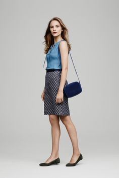 Ann Taylor's new prints pair back to our favorite fall pieces -- like our Tie-Neck Shell -- perfectly.