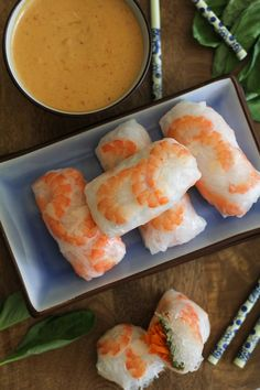 How to Make Homemade Spring Rolls with Peanut Sauce  My fave tho, and so easy to make.
