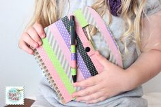Why have the same notebook as everyone else in class? With a little washi tape and some creativity — and Ho...