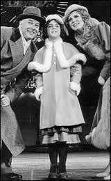 It's N.Y.C. in the original Broadway production of Annie with Warbucks, Annie and Grace Farrell. Annie will be on Broadway again starting in October.