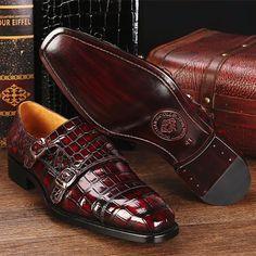 Men's Shoes Efficient China Designer Brand Male Brown Dress Italian Crocodile Skin Leather Office Footwear Social Cheap Cocodrilo Formal Shoe For Men Formal Shoes