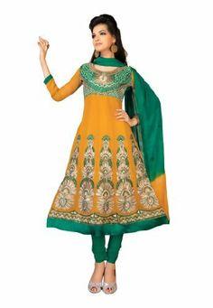 Indian Designer Salwar Kameez Embroidered Orange & Green Fabdeal, http://www.amazon.co.uk/dp/B00GRXJH3A/ref=cm_sw_r_pi_dp_xo.mtb12BK2RB