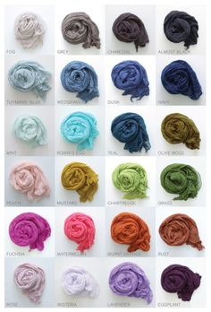 scarf shop ORIGINAL COTTON collection COLOR card